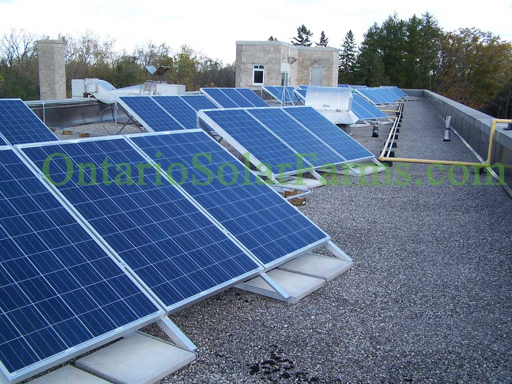 Rooftop Pv Panels Point Where The Roof Points